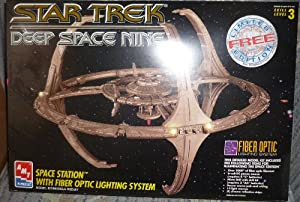 Star Trek Deep Space Nine Space Station Model Kit with Fiber Optic Lighting System