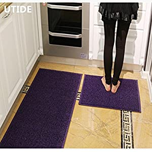 Amazon Ustide 2 Piece Kitchen Rug Set Purple and