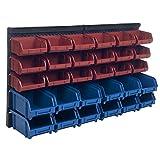 Stalwart 75-92226 30 Bin Wall Mounted Parts Rack