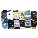 Kids Assorted Designs Crew Socks, 12 Pairs Per Pack.