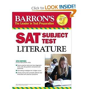 Barron's SAT Subject Test Literature  by Christina Myers-Shaffer