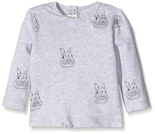 Mamas & Papas and Long Sleeved Bird and Flowers Graphic, T-Shirt Bimbo, Multicoloured (Cream), 2-3 Anni