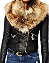 Roseate Women's Winter PU Leather Jac…
