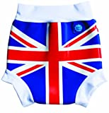 Splash About Kids Reusable Swim Nappy - THE Happy Nappy - Union Jack Print, XL, 12-24 Months