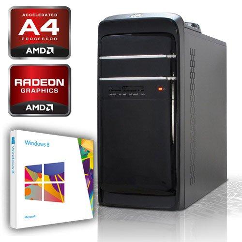 KCS [184307] - PC mit AMD A4-5300 2x3.4GHz (Turbo 2x3.6GHz) Dualcore | 4GB DDR3-1333 | 500 GB SATA2 (3gb/s) | ASUS F2A55-M LK | USB3.0 | AMD RadeonHD 7480D, HDMI, DVI, VGA (FullHD 1080p) | 22xDVD-RW | Sound | GigabitLAN | Cardreader | 420W | Microsoft Windows 8 64-Bit (OEM)