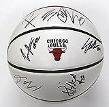 Chicago Bulls 2017-18 Team Autographed Signed White Panel Basketball Markkanen LaVine
