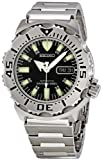 "Seiko Men's SKX779 ""Black Monster"" Automatic Dive Polyurethane Strap Watch"