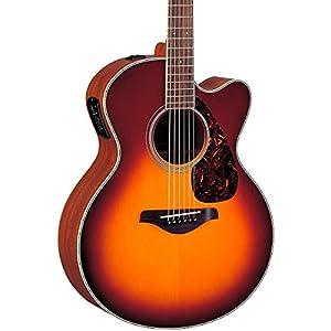 Yamaha FJX720SC Acoustic Electric Guitar, Brown Sunburst