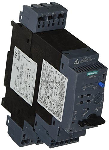 Siemens 3RA61202CB32 Compact Combination Starter, Standard Induction Motor, 4 Pole at 480VAC, Spring Type Terminals, 24VAC/VDC Voltage (Siemens Induction compare prices)