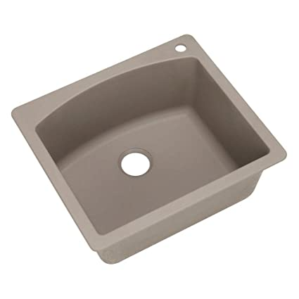 Blanco 441280 Diamond Single-Basin Drop-In Granite Kitchen Sink, Truffle