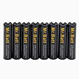 Mr.Batt AAA Rechargeable Batteries NiMh 1.2V 1000mAh High Capacity Low Self Discharge (8 Pack)