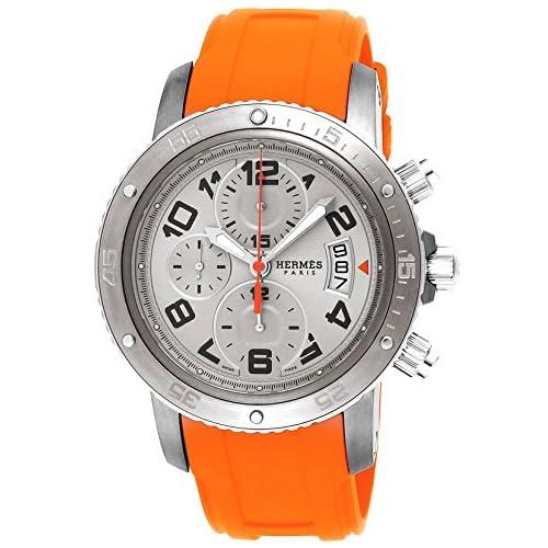 [エルメス]HERMES 腕時計 クリッパークロノ メカニック ダイバー シルバー文字盤 CP2.941.220.1C4 メンズ 【並行輸入品】