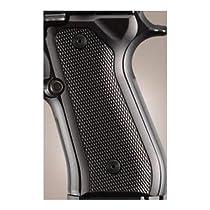 Hogue Beretta 92 Grips Checkered Aluminum Brushed Gloss Black