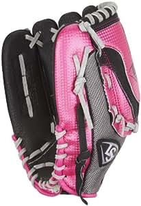 Louisville Slugger 11-Inch FG Diva Softball Infielders Gloves, Pink, Left Hand Throw