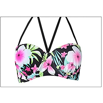 Dasbayla Women Fashion Floral Bathing Suit Push up Skirt Swimsuit Plus Size Bikini