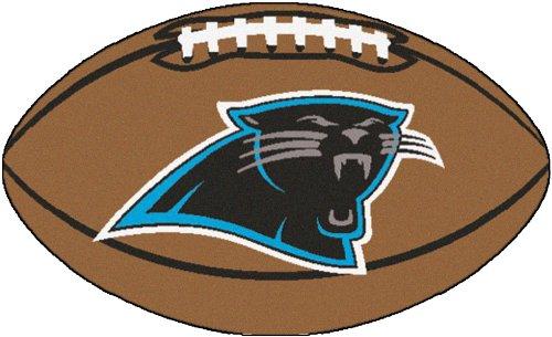 Fanmats Nfl Carolina Panthers Nylon Face Football Rug front-567797