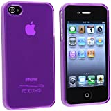 INSTEN Compatible With Apple iPhone 4S AT&T / Verizon / Sprint TPU Rubber Skin Case , Clear Frost Purple