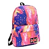 LING'S SHOP Fashion Unisex Galaxy Space Bookbag Travel Rucksack School Bag Satchel Backpack (Pink)