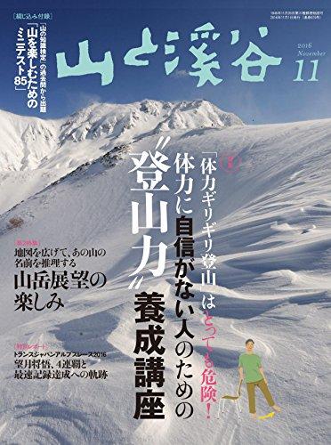 山と溪谷 2016年11月号 特集:体力ギリギリ登山はとっても危険!体力に自信がない人のための