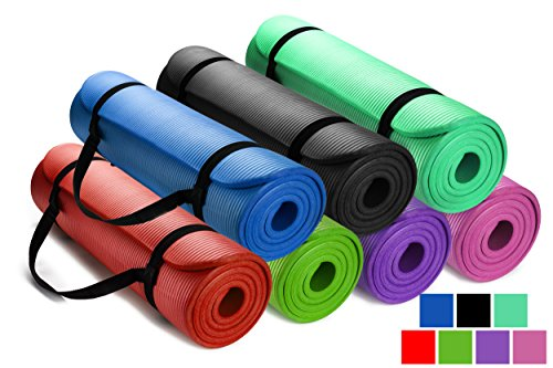 HemingWeigh-12-Inch-Extra-Thick-High-Density-Exercise-Yoga-Mat-with-Carrying-Strap