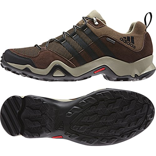 adidas Outdoor Men's Brushwood Mesh GTX Hiking Shoe, Grey Blend/Black/Tech Beige, 11.5 M US
