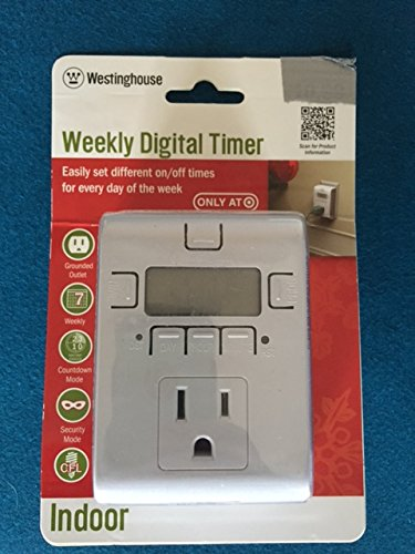 Weekly Digital Timer - Indoor (Westinghouse Light Timer compare prices)