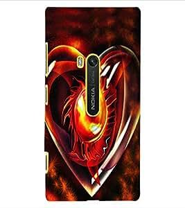 ColourCraft Love Creative Heart Design Back Case Cover for NOKIA LUMIA 920