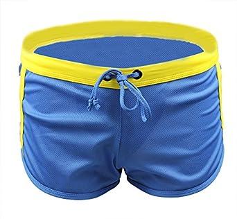 Demarkt® Maillot de bain/ Boxer Trunks Shorts/ Pantalon Court de Sport/ Short de bain pour Hommes - Bleu - Taille M
