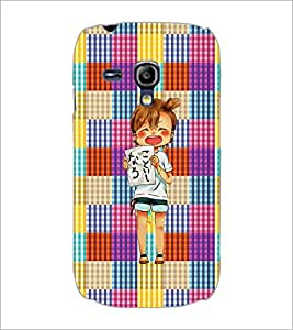 PrintDhaba Shouting Girl D-2608 Back Case Cover for SAMSUNG GALAXY S3 MINI (Multi-Coloured)