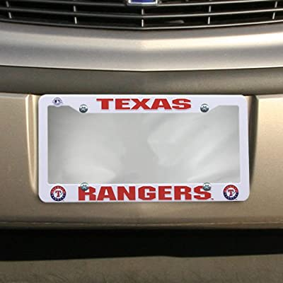 Texas Rangers Official MLB 12 inch x 6 inch Plastic License Plate Frame by Rico Industries
