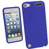 IGadgitz Blue Silicone Skin Case Cover for Apple iPod Touch 5th Generation 5G 32GB 64GB + Screen Protector