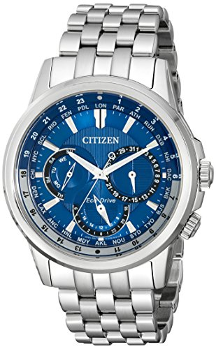 Citizen Eco-Drive Men's BU2021-51L Calendrier Stainless Steel Watch (Citizen Ecodrive Blue Dial compare prices)