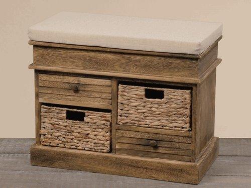 Bank Sitzbank Kommode mit Auflage Holz *Zana* - B68cm