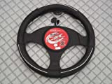 Honda Civic / Insight Steering Wheel Cover -SW5M Black Leather 14.5 inches medium