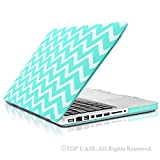TopCase Chevron Series Hot Blue / Turquoise Ultra Slim Light Weight Rubberized Hard Case Cover for Macbook Pro 13-inch 13″ (A1278/with or without Thunderbolt) – NOT for Retina Display – with TopCase Chevron Mouse Pad Reviews