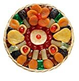 Broadway Basketeers Heart Healthy Floral Dried Fruit (Large) Gift Basket for Mothers Day