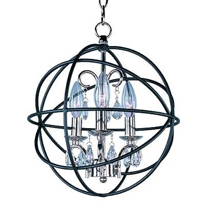 Maxim 25140 Orbit 3 Light 1 Tier Globe Chandelier,