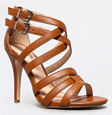 ENZO-61 Strappy High Heel Sandal