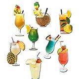 "Lust auf Karibik! Cocktail-Magnete 8er Setvon ""GUMA Magneticum"""