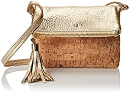 Jack Rogers Gioia Mini Clutch, Cork/Gold, One Size