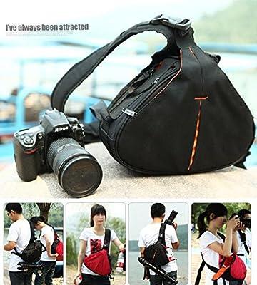 zhigao DSLR SLR Digital Sling Camera Case Shoulder Bag Cross Backpack for Nikon Canon