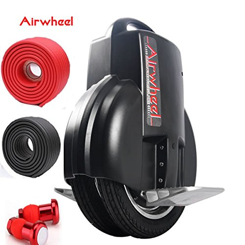Airwheel Q3-170 Dual Wheels More Stable 40-60Km Range Self-Balancing Electric Unicycle Scooter With Bumper Strip And Led Night Riding Set
