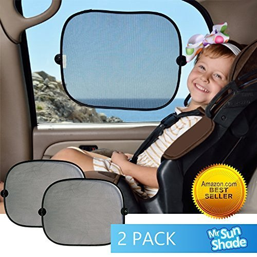 ★ Mr. Sun Shade ★ Premium Car Window Shade - Protect Your Family From Sun Glare And Heat -Blocks Over 100% Of Harmful UV Rays - Fits All Vehicles - 2 Packs ✅Lifetime 100% Money Back Guarantee. - 1