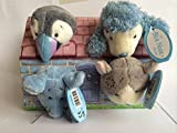 Blue Nose Friends - 4 Blue Nose Plush in a House - Rainbow the Puffin, Pearl the Poodle , Peanuts the Hamster & Cheddar the Mouse,