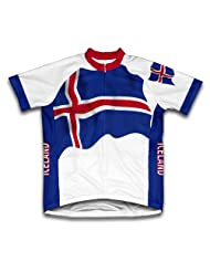 Iceland Flag Short Sleeve Cycling Jersey for Women