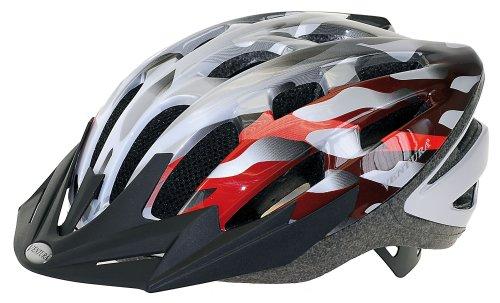 Ventura 730 908 Helm Semi-in-Mold Helm, silber/weiß/ rot, M (54-58 cm)
