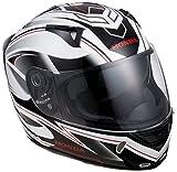 Honda(ホンダ)  フルフェイスヘルメット XP512V FORTE インナーバイザー付 ホワイト/レッド XLサイズ 0SHTP-X512-WRX