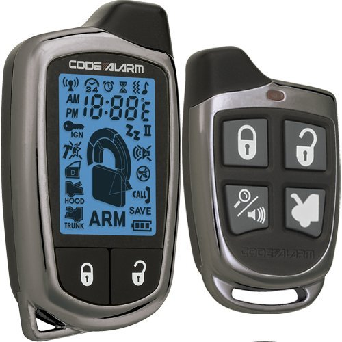 Code Alarm CA6551SST 1-Mile Range Car security/keyless entry/remote start system with 2-way Rechargeable LCD remote