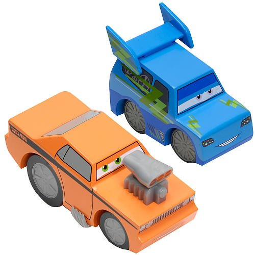 Disney/Pixar CARS Movie Exclusive (DJ & SNOT ROD) Wood Collection 2-Pack