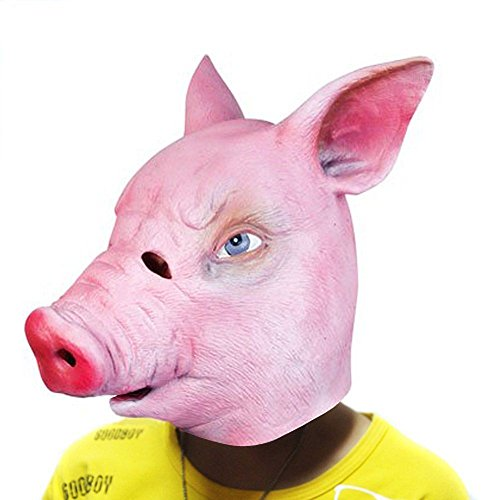 Halloween Decorations Props Creepy Adult Pig Mask